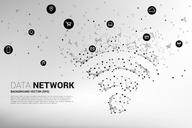 Dot connect line printplaatstijl mobiele datasignage