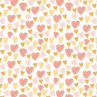 Dot hearts patroon