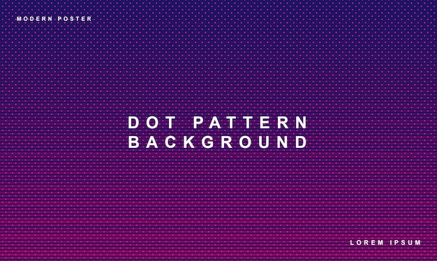 Dot pattern achtergrond gradient purple color