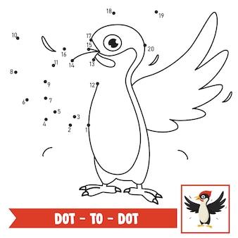 Dot to dot game illustratie voor kinderen onderwijs