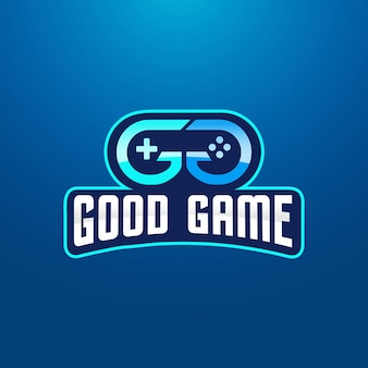 Double letter g gaming logo design