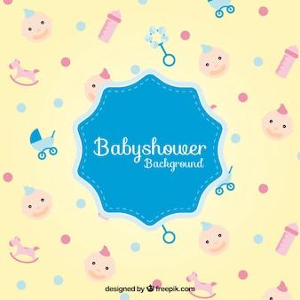 Douche van de baby accessoires achtergrond
