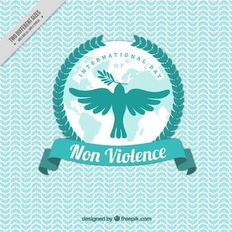 Dove vliegen naar de dag van de geweldloosheid te vieren