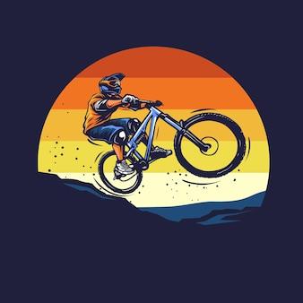 Downhill bike illustratie