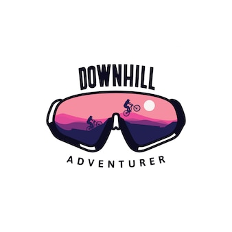 Downhill bril avonturier met fiets reflectie