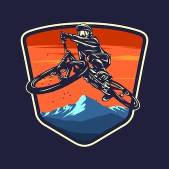 Downhill fiets grafische illustratie