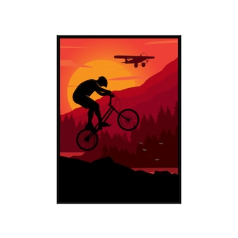 Downhill illustratie