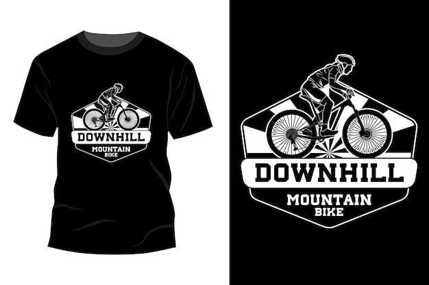 Downhill mountainbike t-shirt mockup ontwerp silhouet