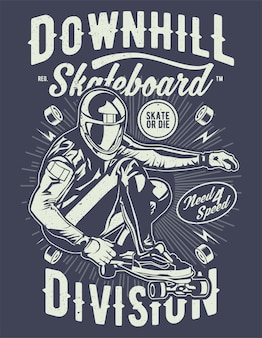 Downhill skateboard division