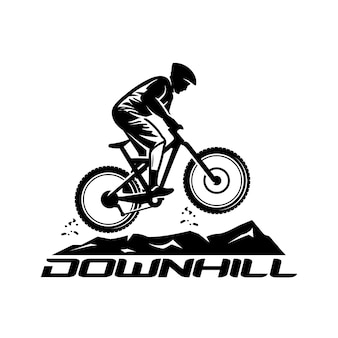 Downhill vector logo sjabloon