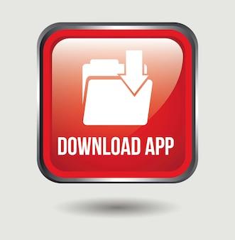 Download app knop over witte achtergrond vectorillustratie