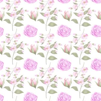 Download bloem naadloos patroonontwerp voor mode