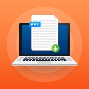 Download de doc-knop. documentconcept downloaden. bestand met doc-label en pijl-omlaag.