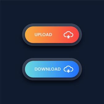 Download en upload knoppen