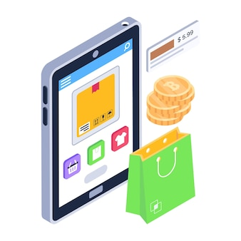 Download eshopping icoon in modern design