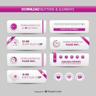 Download knoppen en elementen