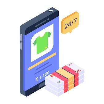 Download koop online kleding icoon shirt in app