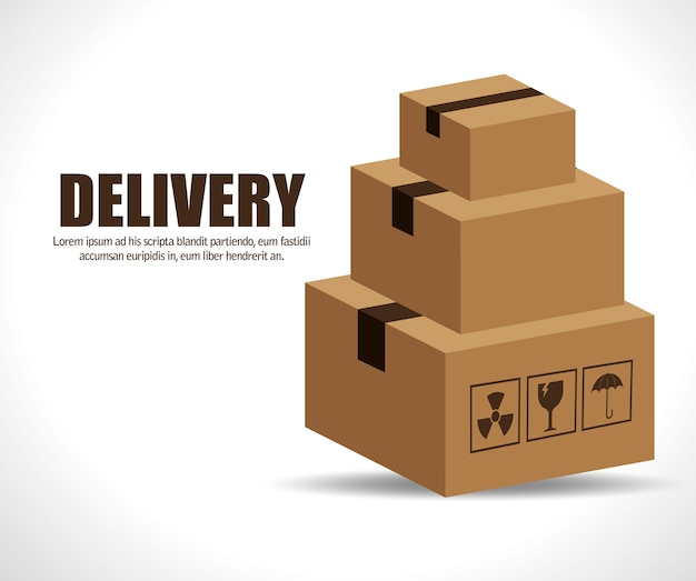 Dozen kartonnen verpakking bezorgservice