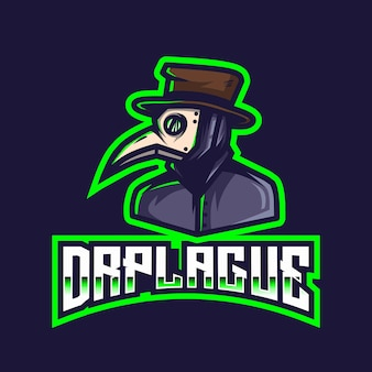 Dr plague esport logo sjabloon