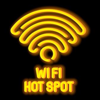 Draadloos netwerksymboolconcept met wi fi-hotspot