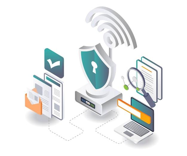 Draadloze beveiliging en gegevens zoeken