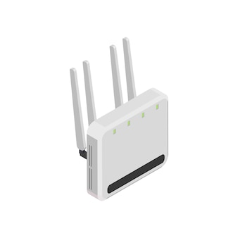 Draadloze router op wit