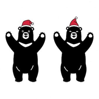 Draag polaire kerst cartoon