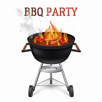 Draagbare barbecue grill illustratie