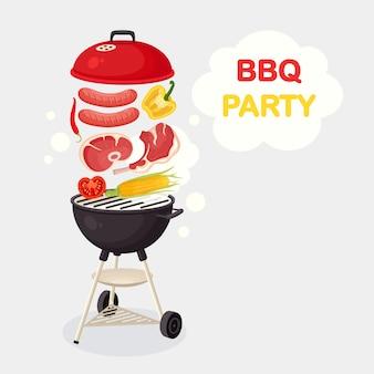 Draagbare ronde barbecue