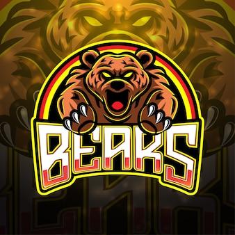 Draagt esport mascotte logo-ontwerp