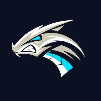 Draak hoofd logo vector