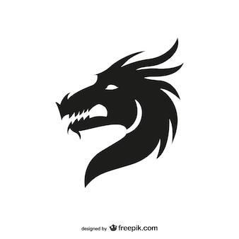 Draak hoofd silhouet