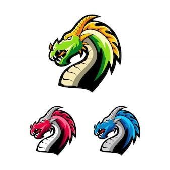 Draak logo sjabloon