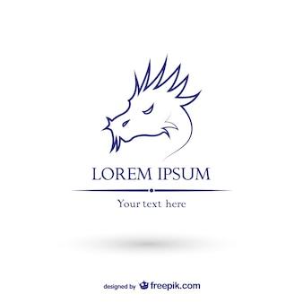 Draak logo template vector