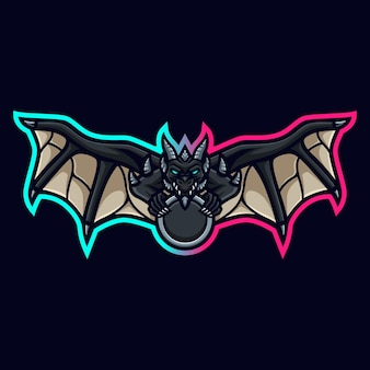 Draak mascotte logo voor gaming twitch streamer gaming esports youtube facebook