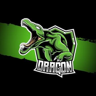 Draak mascotte logo