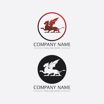 Draak vector pictogram dier fantasie illustratie ontwerp logo sjabloon