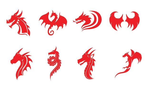 Draak vector pictogram illustratie ontwerp logo sjabloon