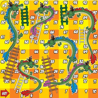 Dragon and ladder board game
