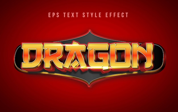 Dragon bewerkbaar kastanjebruin tekststijleffect