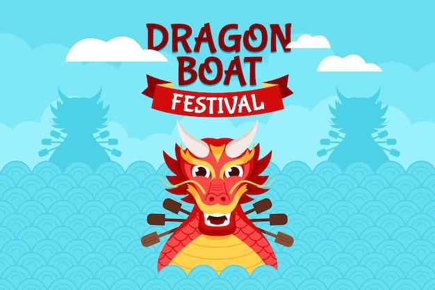 Dragon boat achtergrond concept