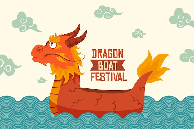 Dragon boat achtergrond