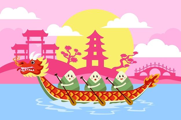 Dragon boat achtergrondontwerp