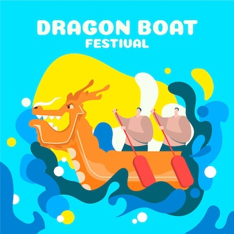 Dragon boat achtergrondthema