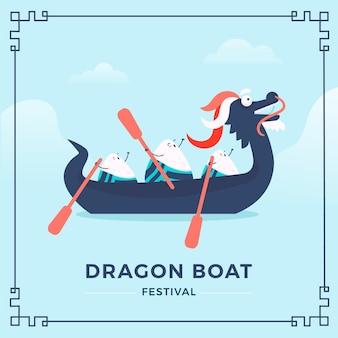 Dragon boat festival en roeiers