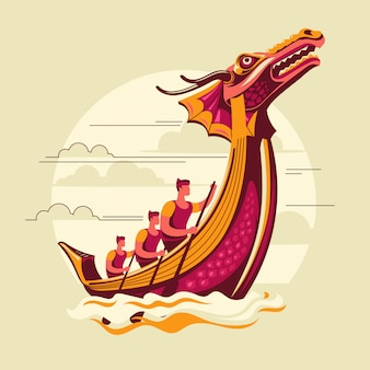 Dragon boat festival illustratie