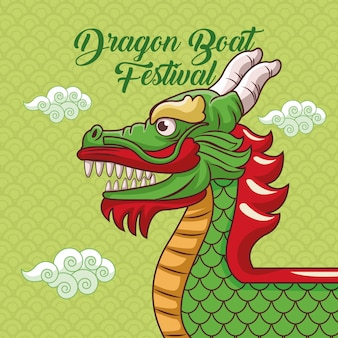 Dragon boot festival cartoon ontwerp