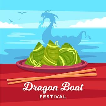 Dragon boten zongzi behang