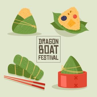 Dragon boten zongzi pack thema