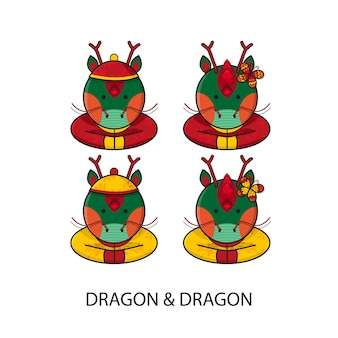 Dragon chinese happy new year